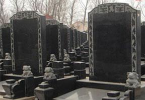 中国黑中式墓碑